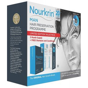 Nourkrin Man Value Pack 180 Tablets,Shampoo and Conditioner